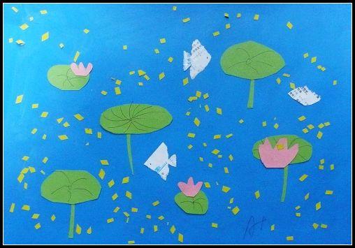 撕纸贴画作品欣赏